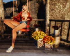 Autumn on the Porch Swing (aurora.autopoiesis) Tags: ariskea truth pseudo foxcity nativeurban ~uber~ uber kustom9