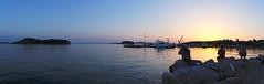 three fishermen (koaxial) Tags: p7022018ap7022021aa koaxial pakostane fishermen sunset sonnenuntergang harbour marina pier croatia 2018 sea meer landscape view panorama hugin