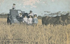 The Sunshine Harvester and Rintel family, Narrogin, W.A. (Aussie~mobs) Tags: rrintel narrogin westernaustralia vintage sunshineharvester family children farm jewishsettlement advertisement advertisingpostcard aussiemobs