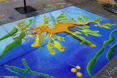 Seadragon (Thad Zajdowicz) Tags: zajdowicz pasadena california usa travel canon eos 5d3 5dmarkiii dslr digital availablelight lightroom outside outdoors chalkfestival carshow ef24105mmf4lisusm street urban city art sidewalk chalk color blue yellow orange green colour seadragon