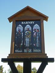 Barnby Village Sign (amandabhslater) Tags: barnby suffolk church stjohnthebaptist village sign