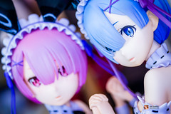 Re:ZERO -Starting Life in Another World-: Rem & Ram Bunny Ver (GabrielVH) Tags: 14scale 60mm 7d blueeyes bluehair bunny bunnyears bunnygirl bunnysuit canon cute freeing maid pvcfigure pinkhair rezero ram redeyes rem stockings flickrsafe