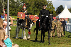 Commander and Drums (meniscuslens) Tags: household calvary musical ride soldier uniform event drum horse crowd bucks county show buckinghamshire aylesbury weedon