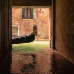 Gliding (Marion McM) Tags: water sea canal gondola soft venice italy canoneosm6 tunnel acqua alta