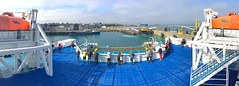 OCT_1803_00004 (Roy Curtis, Cornwall) Tags: france brittany bretagne roscoff panorama view stern channelferry armorique brittanyferries ship coast sea