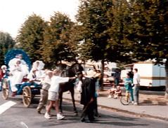 Voiture à cheval défilant pour la Saint-Louis