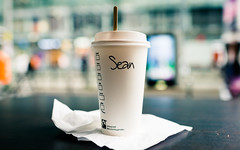 My Name Is... - Explored (Sean Batten) Tags: berlin germany de cup coffee starbucks city urban drink nikon d800 35mm napkin table