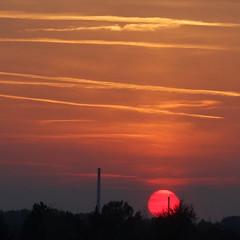 """"""" αвeɴdr☼т (Petra U.) Tags: sooc straightoutofcamera justcropped sunset rot orange balkonblick red karlsruhe"""