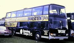 Slide 122-61 (Steve Guess) Tags: epsom downs surrey england gb uk racecourse bus berkhof imperial coach holsten pils tottenham hotspur spurs scania d290rhk