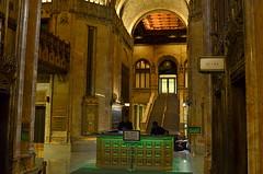 Woolworth Building-Main Lobby (MPnormaleye) Tags: woolworth gothic design elevators desk staircase clock decorative dark ceiling fancy rich utata 24mm wideangle nyc manhattan