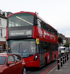 Arriva London South HV385 LC67AHL | 690 to West Norwood (Unorm001) Tags: hv 385 lc67 ahl red london double deck decks decker deckers buses bus routes route diesel hybrid electric dieselelectric battery batteryelectric hybridelectric