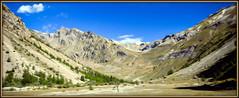 Alpine printing ! (watbled05) Tags: arbres ciel champ extérieur hautesalpes impressionisme montagne paysage panoramique rochers