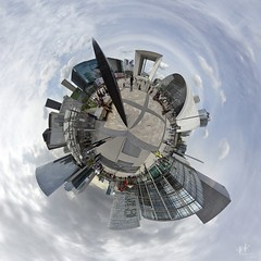 Little Planet: La Defense, Paris, France (SpirosK photography) Tags: travel travelling travellog planet 360 360degrees panorama pano 360panoramic polarprojection ladefense paris france