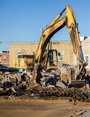 Scoop (Lester Public Library) Tags: tworivers tworiverswisconsin wisconsin demolition construction debris equipment badgerlandinc downtown lesterpubliclibrarytworiverswisconsin readdiscoverconnectenrich