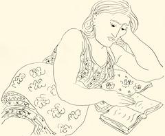 Reading 20181020 12 (danielborisheifetz) Tags: art drawing female portrait ink pen portraiture reading