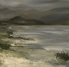 Evening Tide (www.sandragraham.co.uk) Tags: artartworkartistartistscontemporaryartcollectorstreambrookburnwaterflowingnaturepaintingartistsimpastopainting seascapes seascape scotland tide arran scottish landscape sea storm waves still nature