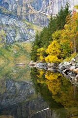 Autumn Rewards (Dani℮l) Tags: lofted autumn lake peace calm fresh nature shore mountain island rock water still tree forest