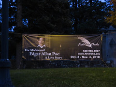 the madness of edgar allan poe. a love story (timp37) Tags: first folio theatre sign mayslake peabody estate 2018 october illinois madness edgar allan poe