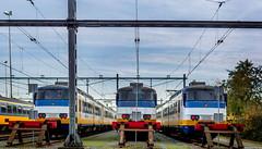 Sprinters (Emil de Jong - Kijklens) Tags: sprinter prorail ns nederlandsespoorwegen trein treinen rails train trains zug kijklens spoor remise railroad