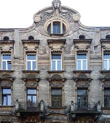Krakow, 30 Piłsudskiego St. (marek&anna) Tags: balcony krakow piłsudskiegost tanement