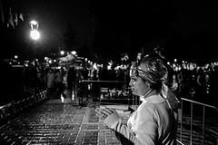 Rain (㋡ Aziz) Tags: rain portrait xt2 16mm night lowlight contrast light street fujfilm istanbul story mood candit streetphotography sokak sb bw blackandwhite lights composition acros outside old new white black city life