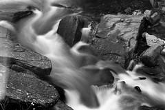 Bracklinn Falls. (Daniel Karpinski.) Tags: ilford delta 100 minolta x700 waterfall water wilderness peace nature blackwhite beautiful bw rocks long exposure river md 50mm f14 vivitar 28mm f28