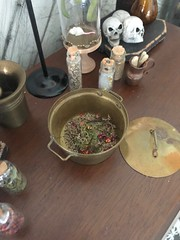 What is that smell???? (JunqueDollBoutique) Tags: uedollboutique halloween playscale diorama vintage brass pot miniatures apothecary witch