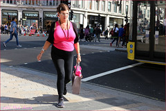 `2403 (roll the dice) Tags: london westminster westend sweet sour lights w1 oxfordstreet travel transport trafffic bus sexy pretty mad sad fun funny people fashion girl colour pink boobs rush crowd blur surreal happy streetphotography canon tourism tourists uk art classic urban unaware unknown england portrait stranger candid glasses tezenis beeds hair eyes face angry