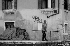 Looking Out (orgazmo) Tags: streetphotography people venezia venice italia italy blackwhite monochrome olympus omd em1mk2 mzuiko12100mmf4ispro micro43s m43s