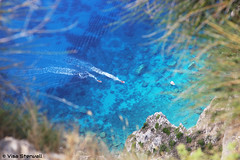 Turquoise water (VisaStenvall) Tags: canon eos 6d 24105 mm f4 l is usm greece corfu kerkira kerkyra summer sunny sun hot colors color turquoise water blue high over 300 metres catle sea green krini