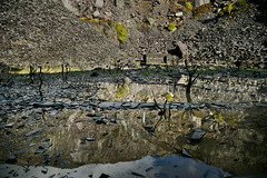 Dali's Hole in daylight (PentlandPirate of the North) Tags: dalishole sincjuliet dinorwic dinorwig slatequarry snowdonia northwales gwynedd reflection