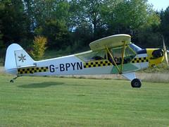 G-BPYN Piper J3C-65 Cub (c/n 11422) Popham (andrewt242) Tags: gbpyn piper j3c65 cub cn 11422 popham