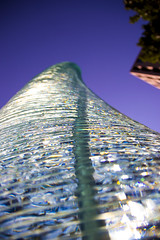 I Went All the Way to Virginia and All I Got Was This Lousy Picture (aaronrhawkins) Tags: glass tower sculpture art artistic sun colorful rainbow spiral reston virginia dulles building outside sunlight conference hotel aaronhawkins