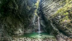 Mystic waters (docoellerson) Tags: slovenia kozjak hdr waterfall mystic light cave water