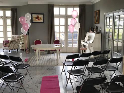 Tafeldecoratie 5ballonnen Kasteel Hekelingen Stichting Make a Wish