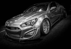 HOT (Dave GRR) Tags: hyundai genesis sportscar custom tuning widebody bodykit monochrome mono bw toronto auto show 2018 olympus