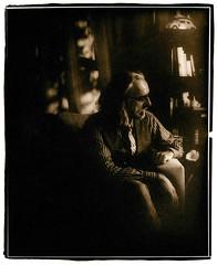 The Englishman (Jason Andrescavage) Tags: ilford darkroom portrait largeformat large format view camera agfa viewcamera sepia silver silverprint paper negative papernegative windowlight model modelphotography