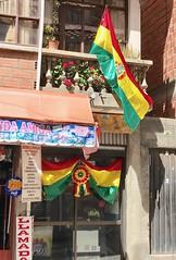 La Paz, Bolivia (jabbusch) Tags: scenes street bolivia celebration flag independence patriotism