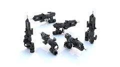 Heavy Railgun Render (IAmDest) Tags: lego moc ldd model scifi videogame actionfigure weapon gun quake quakechampions railgun render
