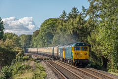 50007_049_Albrighton_23_09_18 (chrisbe71) Tags: 50007 hercules d407 50049 d449 defiance neptune d406 50011 50006 d411 ee br vac hoover c50a centurion gbrf railtour charter gbrfrailtour outoftheordinary class50 class50alliance britishrail englishelectric type4 englishelectrictype4
