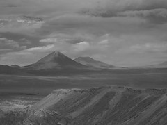 """The Valley of the Moon Revisited (Say """"Wasabi"""") Tags: mono blackwhite atacama chile desert latinamerica serene calm olympus m43 mzuiko 1240 em5ii landscape scenery mountains southamerica sky skies clouds travel"""