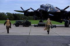 'Lancaster NX611' (andrew_@oxford) Tags: avro lancaster nx611 raf east kirkby royal air force lincolnshire aviation heritage centre 1940s wartime reenactors reenactment timeline events