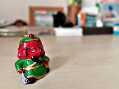 Guan Gong (SM Tham) Tags: asia southeastasia malaysia office desk table guangong kwankong chinese godofwar romanceofthethreekingdoms protector defender wealth prosperity figurine whimsical colors statuette happy cheerful smiling goodluck