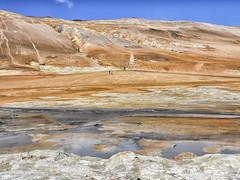 Hverir (RobertLx) Tags: iceland island icelandiclandscape nature landscape europe nordic arctic sulpur hydrogensulphide mudpool mud fumarole steamvent lunar mars outworldly volcanic orange geothermal mývatn hverir desolate steam
