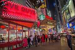 New York City - New York - USA -  Times Square (Jeffrey Neihart) Tags: jeffreyneihart nikond7200 nikon1680284 bigapple bigcity cityscape city streetscene streetphotography fiveguys cocacola freestyle westin regal cinemas wicked davebusters