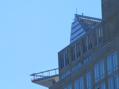 Hudson Yards Tower with Triangle Balcony Platform 2415 (Brechtbug) Tags: 2018 october cloudless sky nyc virtual clock tower from hells kitchen clinton near times square broadway new york city midtown manhattan 10112018 stormy weather building no hanging cumulonimbus blue cumulus nimbus cloud fall hell s nemo southern view ny1