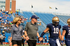 Pregame-6 (John Carroll Univ.) Tags: athletics fun homecoming president drjohnson homecoming2018 football americanfootball clothing crashhelmet footballhelmet hardhat helmet human people person sport sports team teamsport