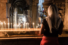 Place of worship (dawolf-) Tags: church religion worship candles pray woman jerusalem israel palestine oldcity urban catholic travel exploration