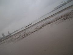 Erith Riverside,7 (doojohn701) Tags: rain mud driedup thames cloudy mist water river sand weather erith uk tilted