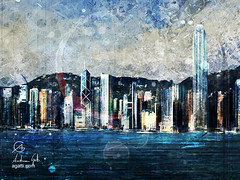 Hong Kong (http://www.agatti.com) Tags: south asia china sea hong kong hongkong island kowloon islandside victoria harbour new old architecture building monument hills landmark landscape scape view panorma scene scenery vista city town urban outdoor sky skyline skycrapers towers wonderland culture tourism travel visitors digital painting texture layers impression surreal realism splatter stains spots splash drip dripping brush stroke grunge glimpse colorful halo